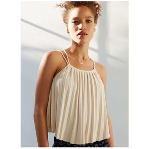NEW KIMCHI BLUE / PLEATED STRAPPY TANK TOP